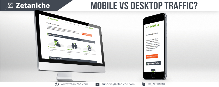 Mobile vs. Desktop traffic