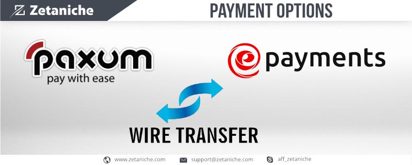 Zetaniche Payment Methods